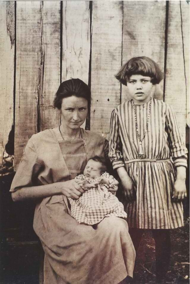 Appalachian woman and her children 1920's.