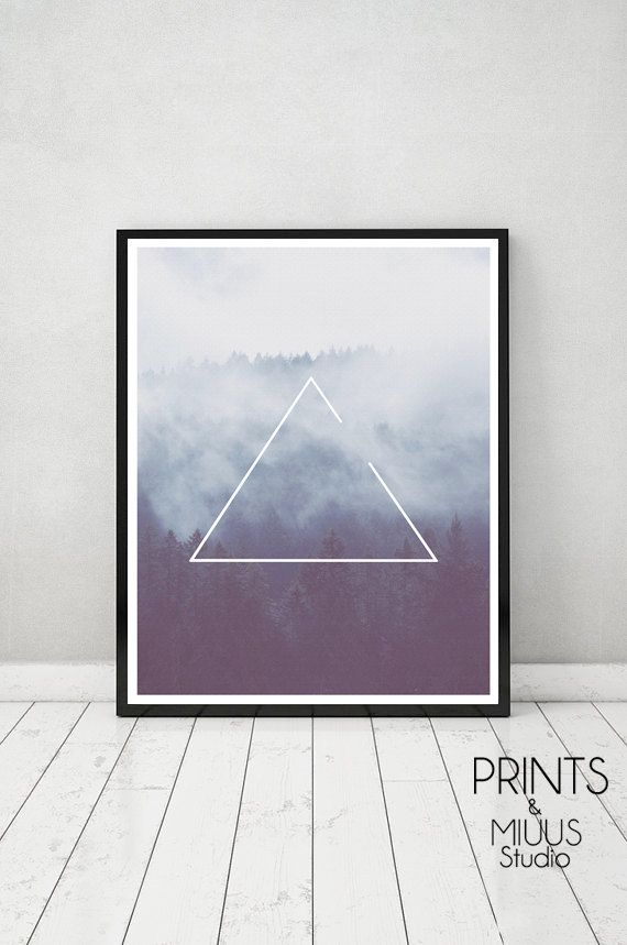 Photography Forest Art Print Canvas Minimal by PrintsMiuusStudio