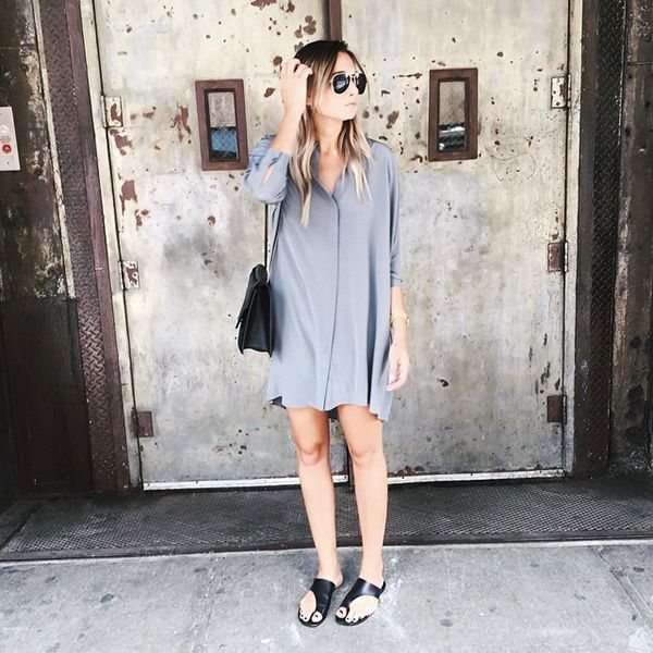 """31 Flawless Outfits To Copy This July #refinery29  http://www.refinery29.com/july-outfit-of-the-day-ideas#slide-19  Blogger Danielle Bernstein said it best: """"Too hot for anything but a shirtdress."""" Period. ..."""