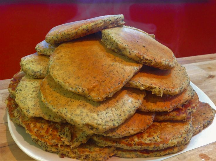 Orange Poppy Seed Pancakes. Spruce up your breakfast with these pretty pancakes!