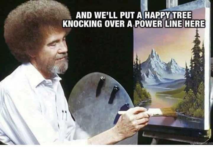 Pin By Ryan Preston On Powerline Bob Ross Bob Ross Paintings Bob Ross Birthday