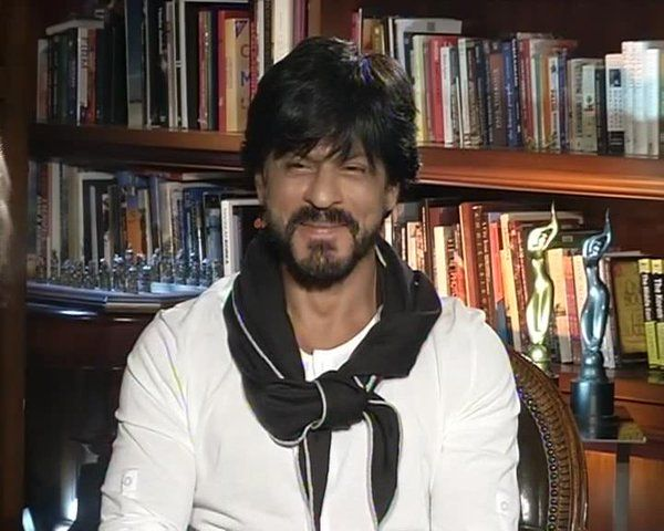 Shah Rukh Khan. SRK. Shahrukh khan. 50th birthday Press Meet - in the library at Mannat 2 Nov 2015
