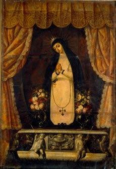 Virgen de la Soledad, ca. 1690  Cristóbal de Villalpando (ca. 1649-1714)  Óleo sobre tela  237 x 162 cm  Col. San Pedro Museo de Arte. Secretaría de Cultura del Gobierno del Estado de Puebla  Puebla, México