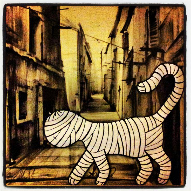 #art #mummy #kitten #meow