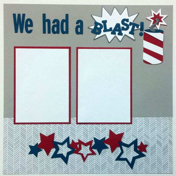 We had a blast on the fourth of July! Show off your photos from your July 4th festivities on this great scrapbook page! This is a two page premade scrapbook layout page. Each page measures 12x12. This scrapbook page is completely assembled for you. All you need to do is add your own photos and you have a great page for your scrapbooks. There are five mats which will hold 4x6 photos. Thank you for looking. More holiday scrapbook pages can be found here http://etsy.me/1QJ3JcE  The…