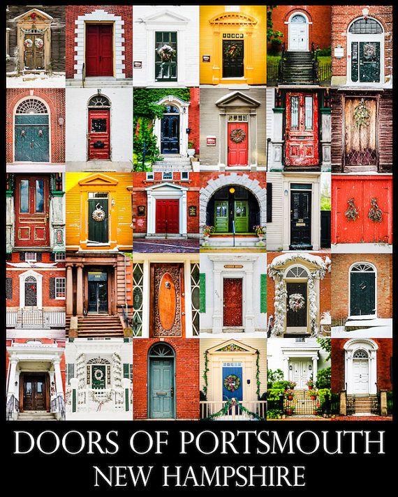 Doors of Portsmouth New Hampshire by ShadetreePhotography on Etsy