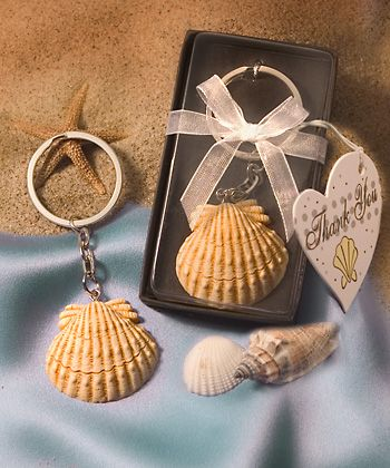 Seashell Key Ring Wedding Favors This would have been perfect for our beach wedding!