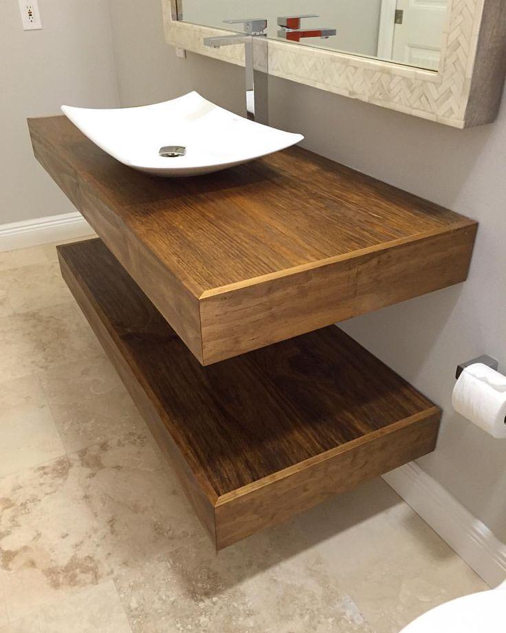 Carved woodworks floating bathroom vanities custom