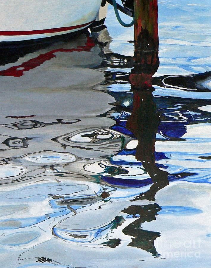 Water Reflections 2 Painting by Sandra Bellestri