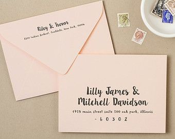 Use your home printer to create stunning printed envelopes. These envelope templates are a savvy and inexpensive alternative to wedding envelope