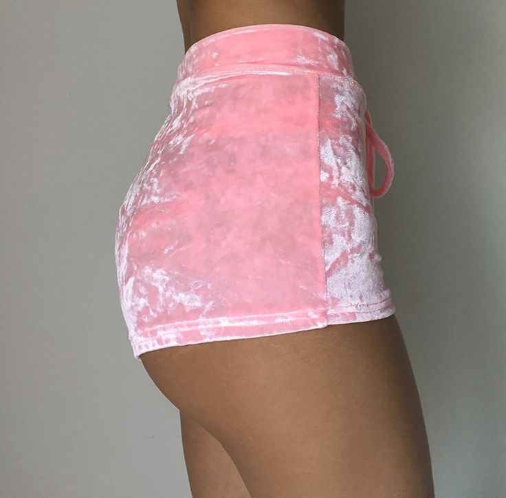 Image of Pink Velvet Shorts