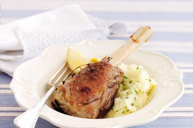 lemon & thyme lamb shanks
