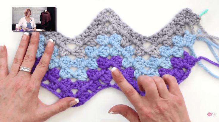 Granny Ripple Stitch Tutorial: How To Crochet The Granny Ripple Stitch Blanket: Free