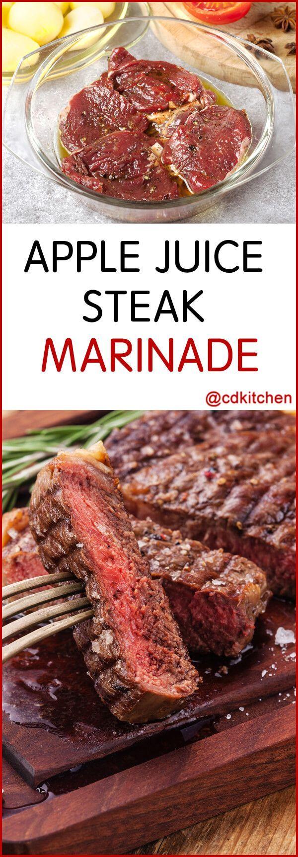 Apple Juice Steak Marinade - Recipe is made with garlic powder, apple juice, Worcestershire sauce, black pepper, Italian seasoning   CDKitchen.com