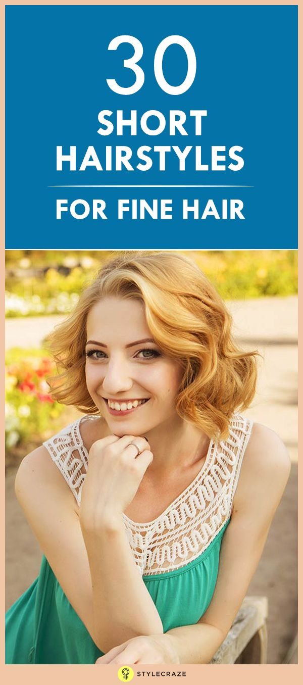 Best Chic Short Hairstyles Images On Pinterest - Fine hair styling