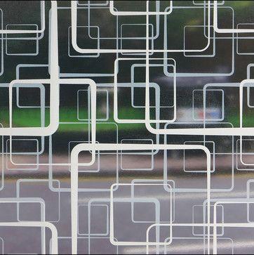 Retro Squares Sheer Window Film - 3 ft. x 4 ft. midcentury-window-treatments