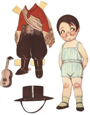 Free Printable - Vintage Boy Paper Doll - The Graphics Fairy