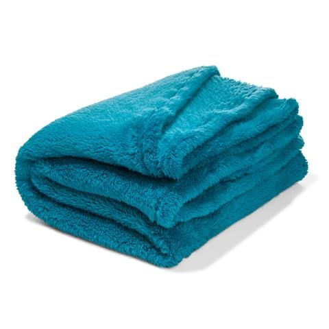 aqua Plush Blanket Sb roomates Plush