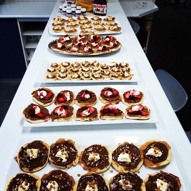 Trays and trays of tasty Nutella treats!