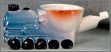 Porcelain Germany Lustre Train Engine Whistle Egg Cup, c.1920