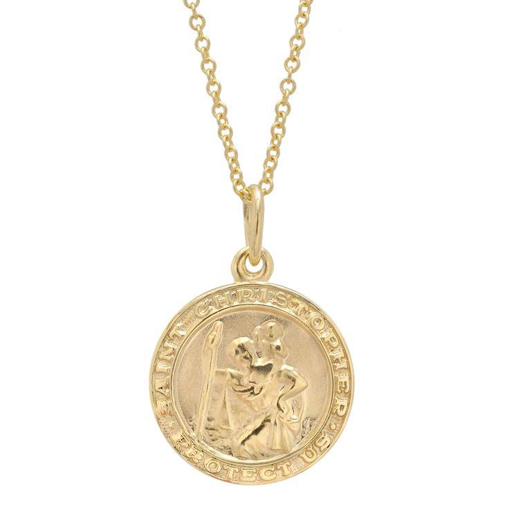 Betteridge Small 14k Gold St. Christopher Pendant