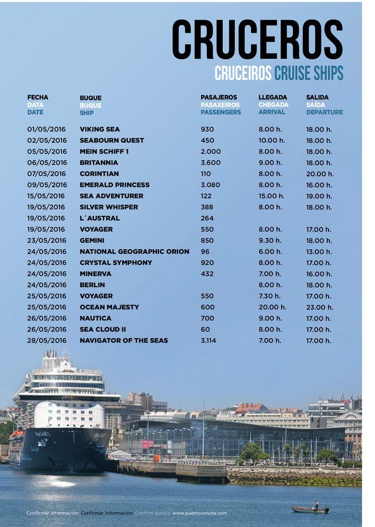 Empieza una semana grande de #cruceros en #ACoruña