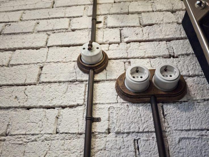 Трубы Villaris, выключатели Fontini