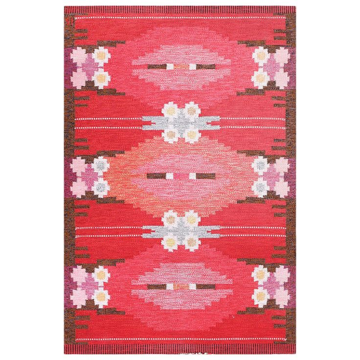 Vintage Swedish Kilim by Ingegerd Silow | From a unique collection of antique and modern russian and scandinavian rugs at https://www.1stdibs.com/furniture/rugs-carpets/russian-scandinavian-rugs/