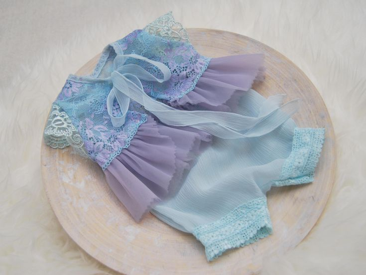 Newborn Photo Prop, Baby Girl Outfit, Newborn Lace Romper, Lavender, Teal, Newborn Romper, Baby Bloomers, Newborn Picture Prop, Newborn Set by LovelyBabyPhotoProps on Etsy