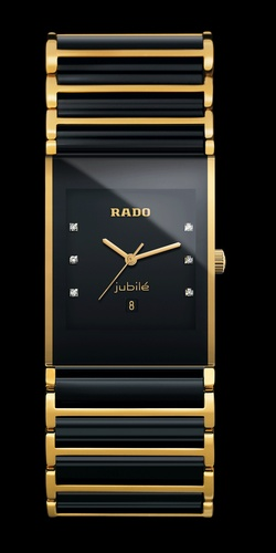 Rado Ladies Integral~ combo of ceramic and titanium. Scratch resistant. Sapphire crystal, diamond accents. Modern and elegant, love it!!!