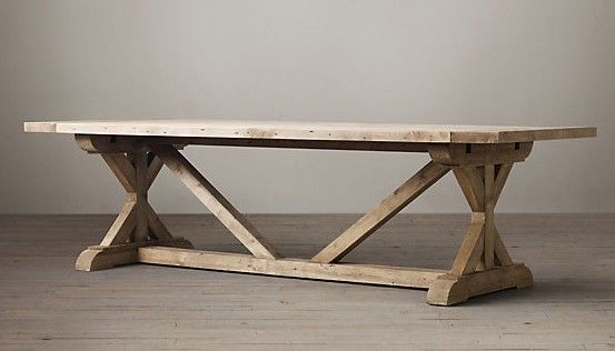 24 best images about trestle on pinterest for Diy trestle dining table