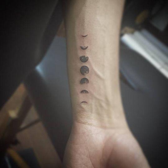 Awesome Tattoo Ideas — Tiny Moon Phases Tat...