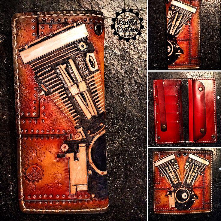 Vanilla Custom Leather #vanillacustom #vanillacustomleather #vcl #gdansk  #harley #bobber #wallet