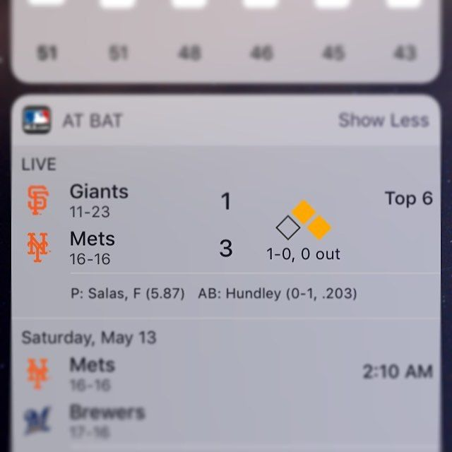 I'm truely living in a future the 1986 Anthony would never have believed. Getting live Mets stats on a widget? Hold on I'm going to marry a German!?