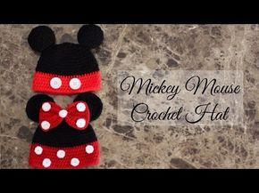 Como hacer un gorro fácil de Mickey Mouse a ganchillo, gancho, y crochet - YouTube