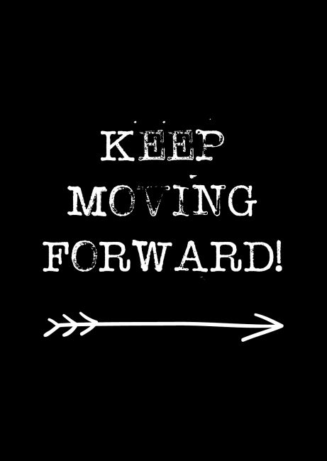 A6 kaartje. Keep moving forward. Ontwerp: byBean. Je shopt 'm hier: http://www.bybean.nl/10278794/kaartje-keep-moving-forward