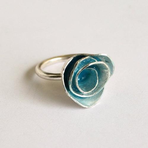 Turquoise Rose Ring