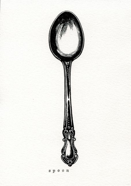 vintage spoon image #spoon, #vintage, #graphic