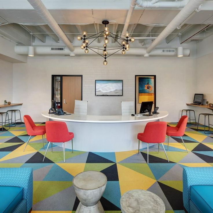 Commercial Reception Area Rugs: FLOR / Made You Look / Multiple Colors / The Marq
