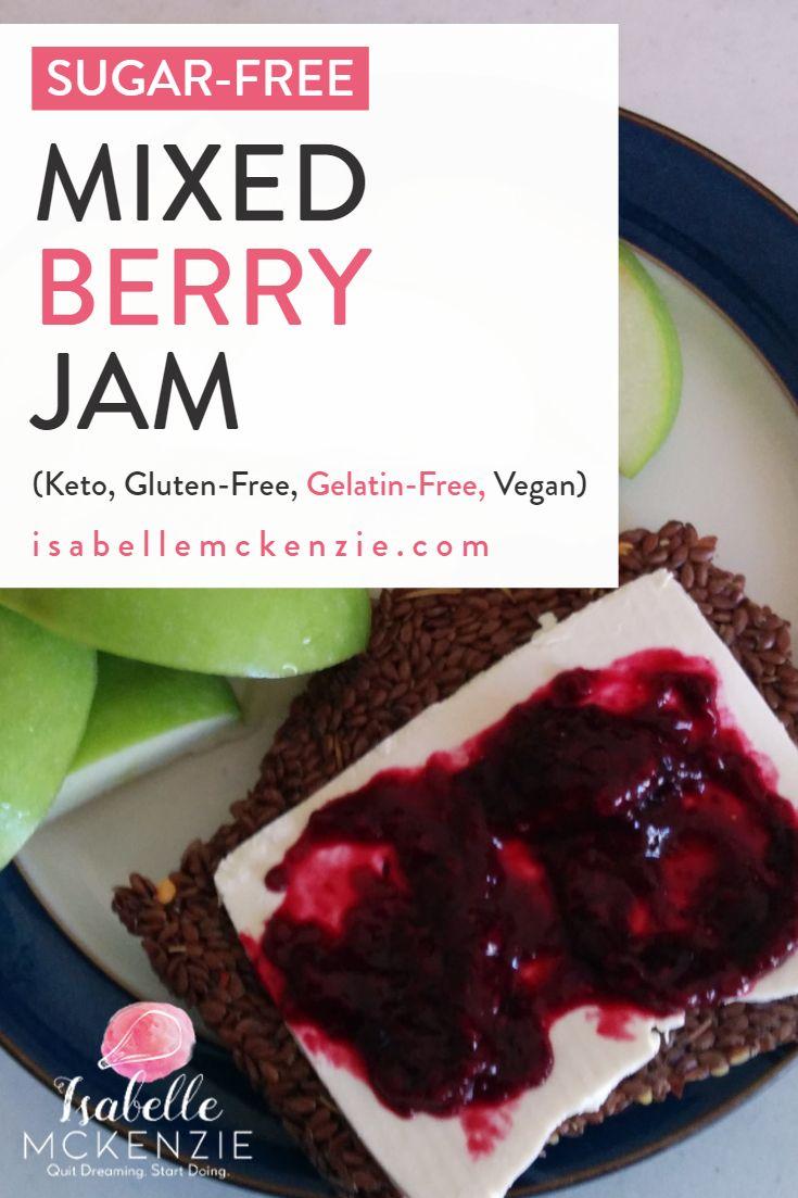 Sugar-Free Mixed-Berry Jam Recipe (Keto, Gluten-Free, Gelatin-Free, Vegan)