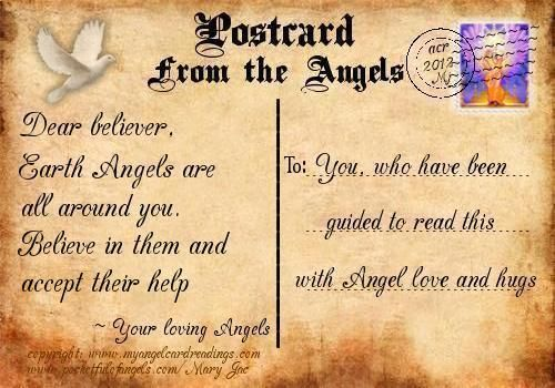 Your Postcard from the Angels - A comforting and encouraging messages from the angelic realm - Angel Cards - Mary Jac