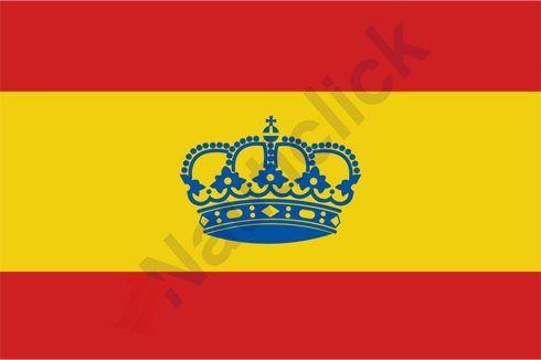 BANDERA DE ESPAÑA CON CORONA 60 X 40MM