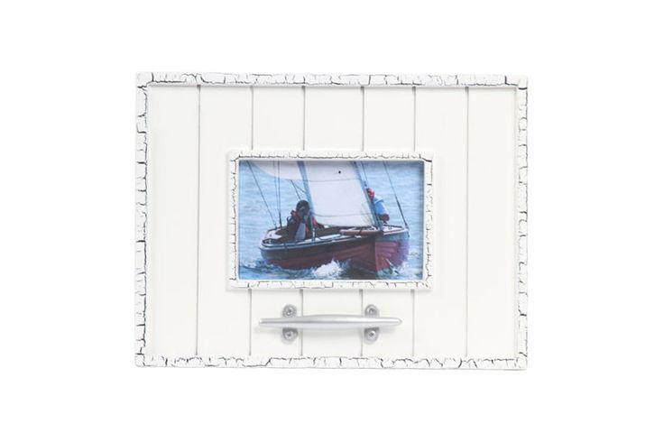 "Latitude 38 4"" x 6"" Nautical Wood Picture Frame with Cleat"