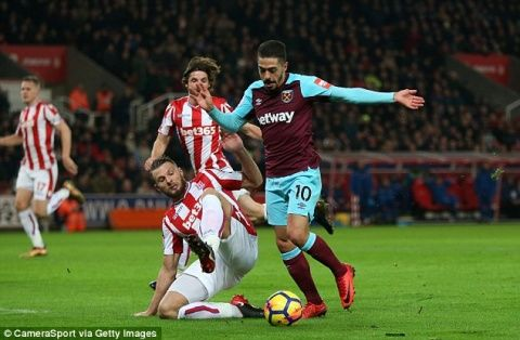 Manuel Lanzini has two-match ban appeal turned down after dive against Stoke