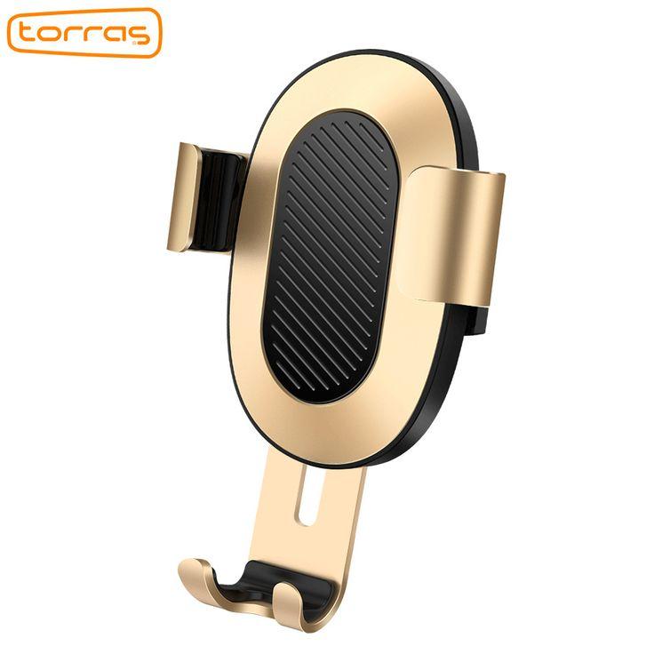 TORRAS Car Phone Holder Universal 4-6 inch Mobile Phone Holder Car Air Vent Mount For iPhone Samsung Gravity Car Holder Bracket
