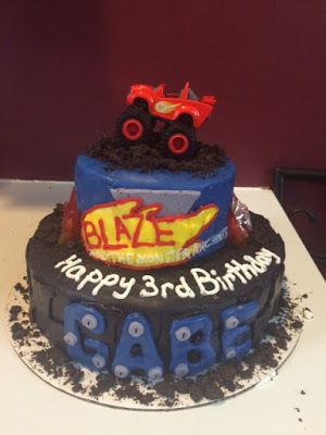Erin's Cakes: Blaze and the Monster Machine Birthday Cake