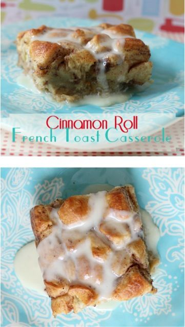Cinnamon Roll French Toast Casserole Recipe! ~ give your ordinary cinnamon rolls a delicious makeover with this easy Breakfast and Brunch recipe! #casseroles #frenchtoast #recipes #breakfast #brunch #recipe #easy #recipes