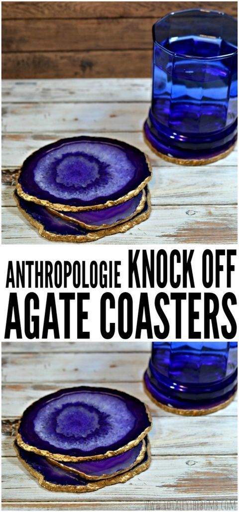 agate coasters - this is SO happening when I move.