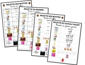 Recettes adaptées à la lecture pour les maternelles