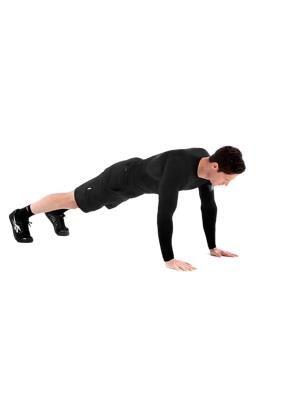 Отжимание с выгибом УРОВЕНЬ СЛОЖНОСТИ Начинающий АКЦЕНТ Сила ЗАДЕЙСТВОВАННЫЕ МЫШЦЫ Грудные мышцы, Дельтовидные мышцы, Трицепс, Всё тело ИНВЕНТАРЬ Без оборудования